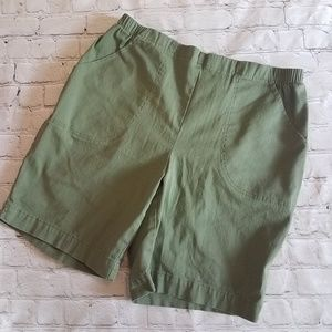 Just My Size by Hanes Green Shorts 1X